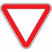 """дорожный знак 2.4 """"Уступите дорогу"""""""
