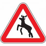 """дорожный знак 1.27 """"Дикие животные"""""""
