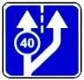 """дорожный знак 5.15.3 """"Начало полосы"""" вторая правая полоса"""