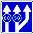 """дорожный знак 5.15.3 """"Начало полосы"""" третья правая полоса"""