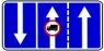 """дорожный знак 5.15.7 """"направление движения по полосам"""" три полосы"""
