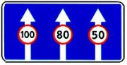 """дорожный знак 5.15.8 """"число полос"""" три полосы"""