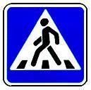 """дорожный знак 5.19.1 """"Пешеходный переход"""" влево"""