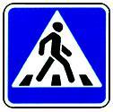 """дорожный знак 5.19.2 """"Пешеходный переход"""" вправо"""