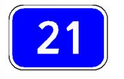 """дорожный знак 6.13 """"Километровый знак"""" до 2-х цифр"""