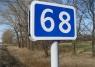 """дорожный знак 6.13 """"Километровый знак"""" до 2-х цифр (двусторонний)"""