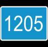 """дорожный знак 6.13 """"Километровый знак"""" 4 цифры"""