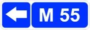 """дорожный знак 6.14.2 """"Номер маршрута"""""""