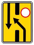 """дорожный знак 6.19.1 """"Предварительный указатель перестроения на другую проезжую часть"""""""