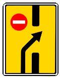 """дорожный знак 6.19.2 """"Предварительный указатель перестроения на другую проезжую часть"""""""