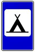 """дорожный знак 7.10 """"Кемпинг"""""""