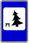 """дорожный знак 7.11 """"Место отдыха"""""""