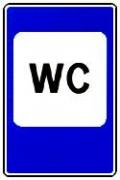 """дорожный знак 7.18 """"Туалет"""""""