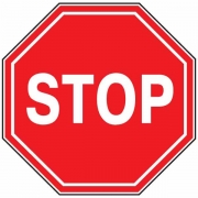 """дорожный знак 2.5 """"Движение без остановки запрещено"""""""
