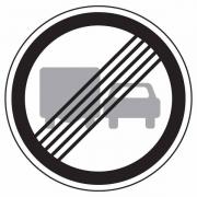 """дорожный знак 3.23 """"Конец зоны запрещения обгона грузовым автомобилям"""""""