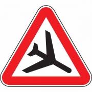 """дорожный знак 1.30 """"Низколетящие самолеты"""""""