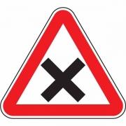 """дорожный знак 1.6 """"Пересечение равнозначных дорог"""""""