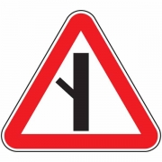 """дорожный знак 2.3.5 """"Примыкание второстепенной дороги"""""""