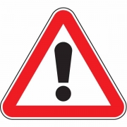 """дорожный знак 1.33 """"Прочие опасности"""""""