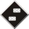 Знак «Постоянный сигнальный знак - Внимание! Токораздел»
