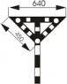 Знак «Временный сигнальный знак - Опустить нож, поднять крылья»