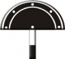 Знак «Временный сигнальный знак - Подготовиться к поднятию ножа и закрытию крыльев»