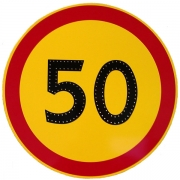 """светодиодный дорожный знак 3.24 """"Ограничение максимальной скорости"""""""
