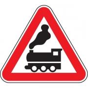 """дорожный знак 1.2 """"Железнодорожный переезд без шлагбаума"""""""