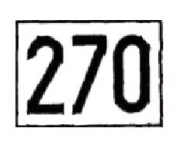 Знак «Путевой особый знак номера стрелки»
