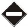 Знак «Световой указатель - Опустите токоприемник»