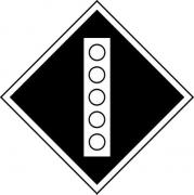 Знак «Постоянный сигнальный знак - Поднять токоприемник на электровозе»