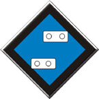 Знак «Временный сигнальный знак - Подготовиться к опусканию токопримника»