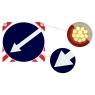 СВЕТОДИОДНЫЙ ЗНАК «ОБЪЕЗД СЛЕВА» на щите